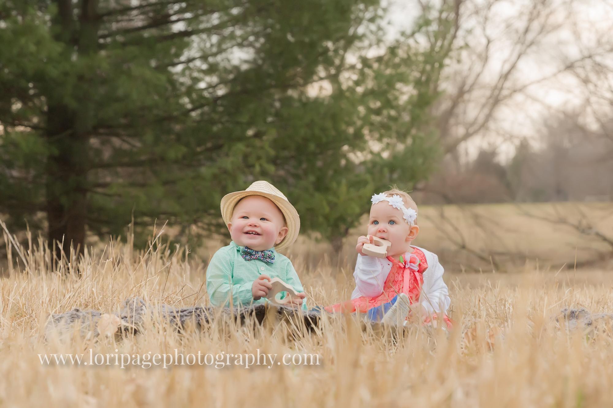 Twins! One Boy One Girl {Outdoor Ann Arbor Family Photographer}