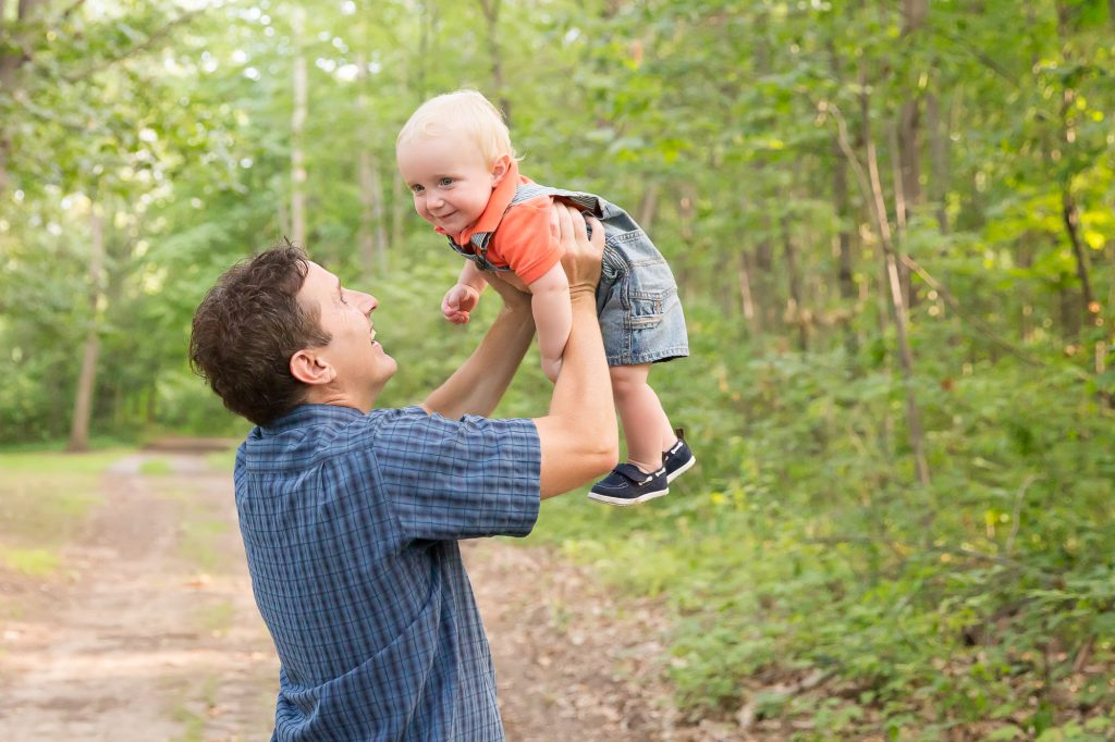 Ann Arbor Outdoor Family Photos | This guy turned one!