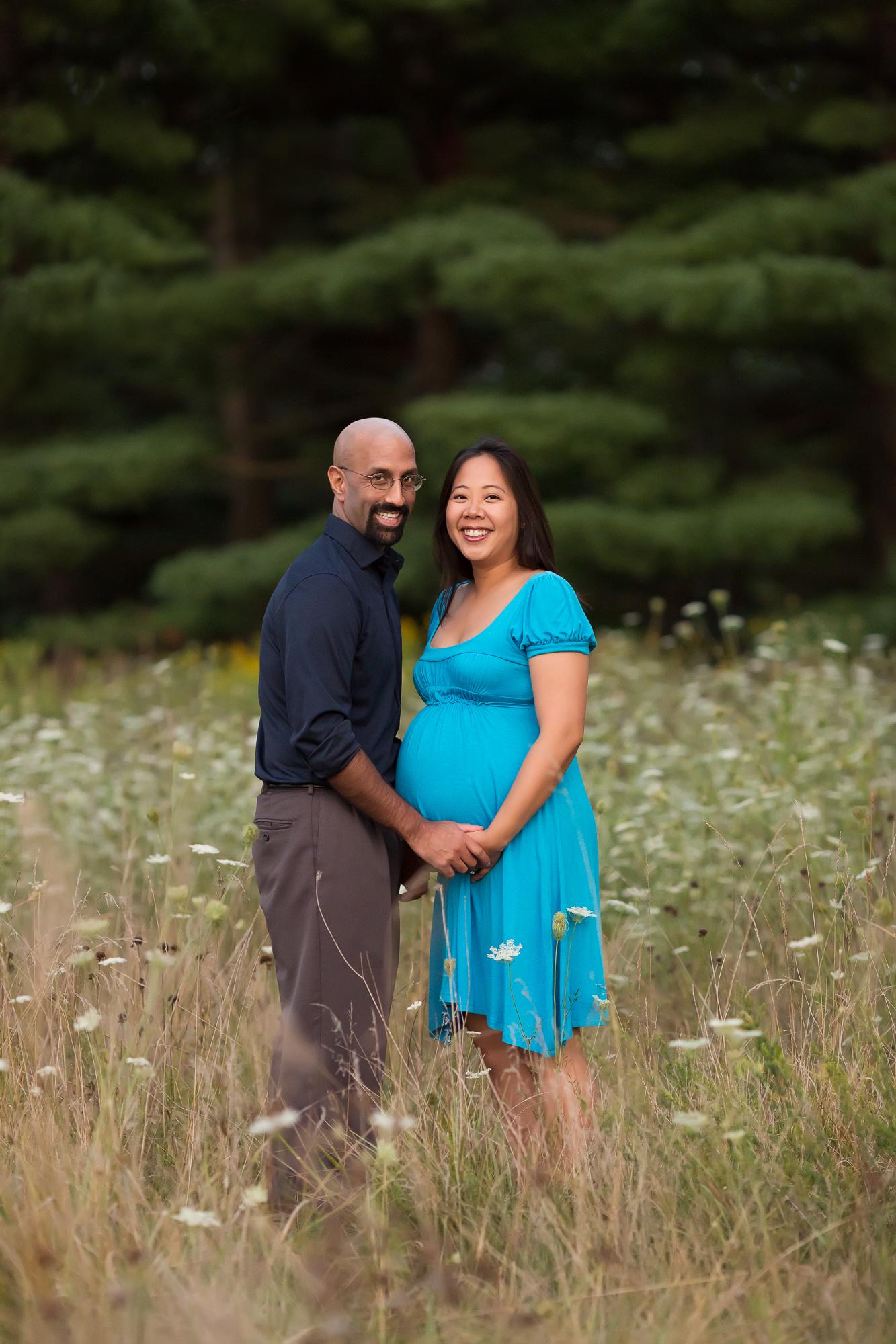 Ann Arbor Maternity Photographer | A Sunset Garden Session