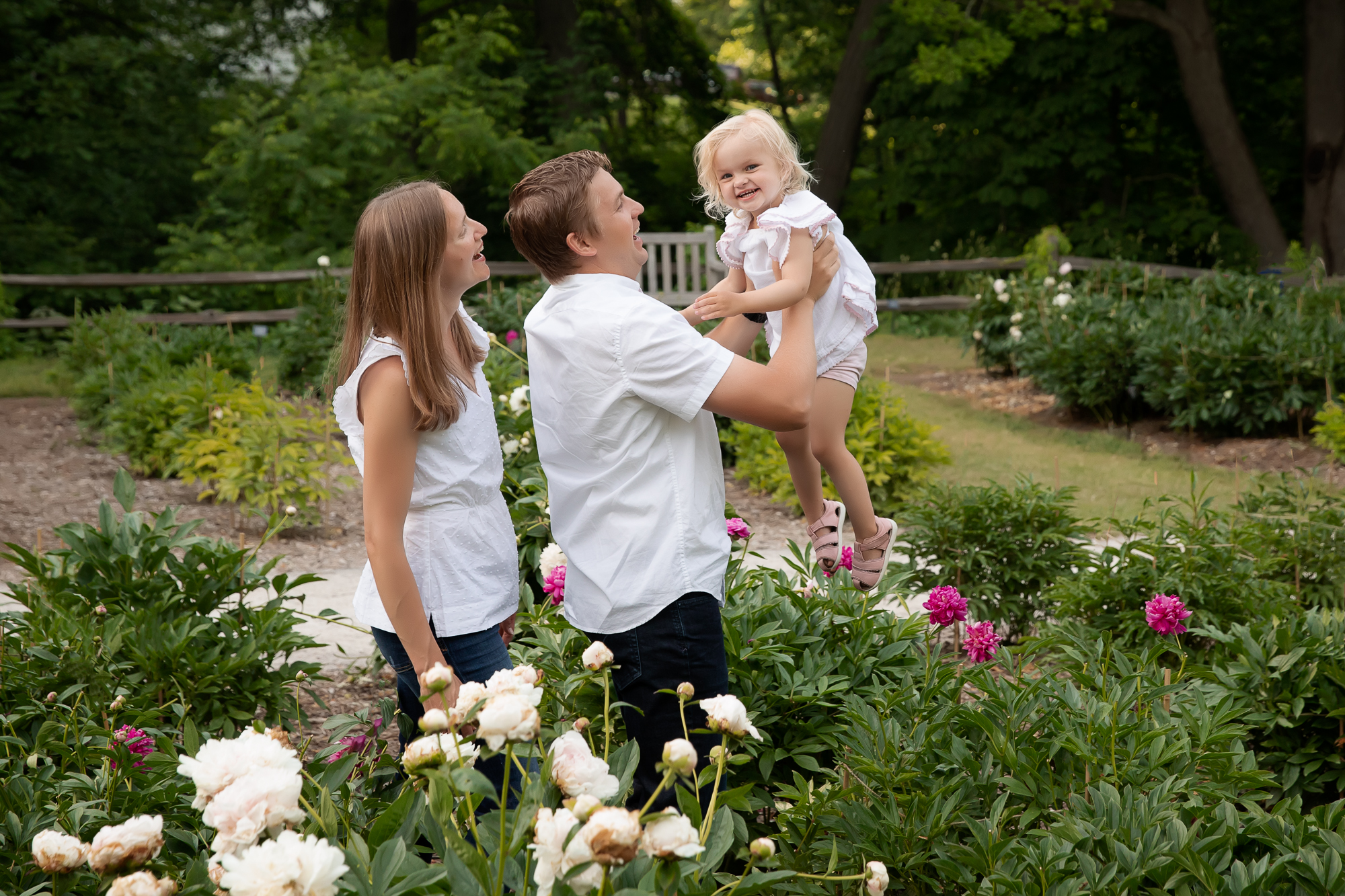 Ann Arbor's Peony Gardens Family Session