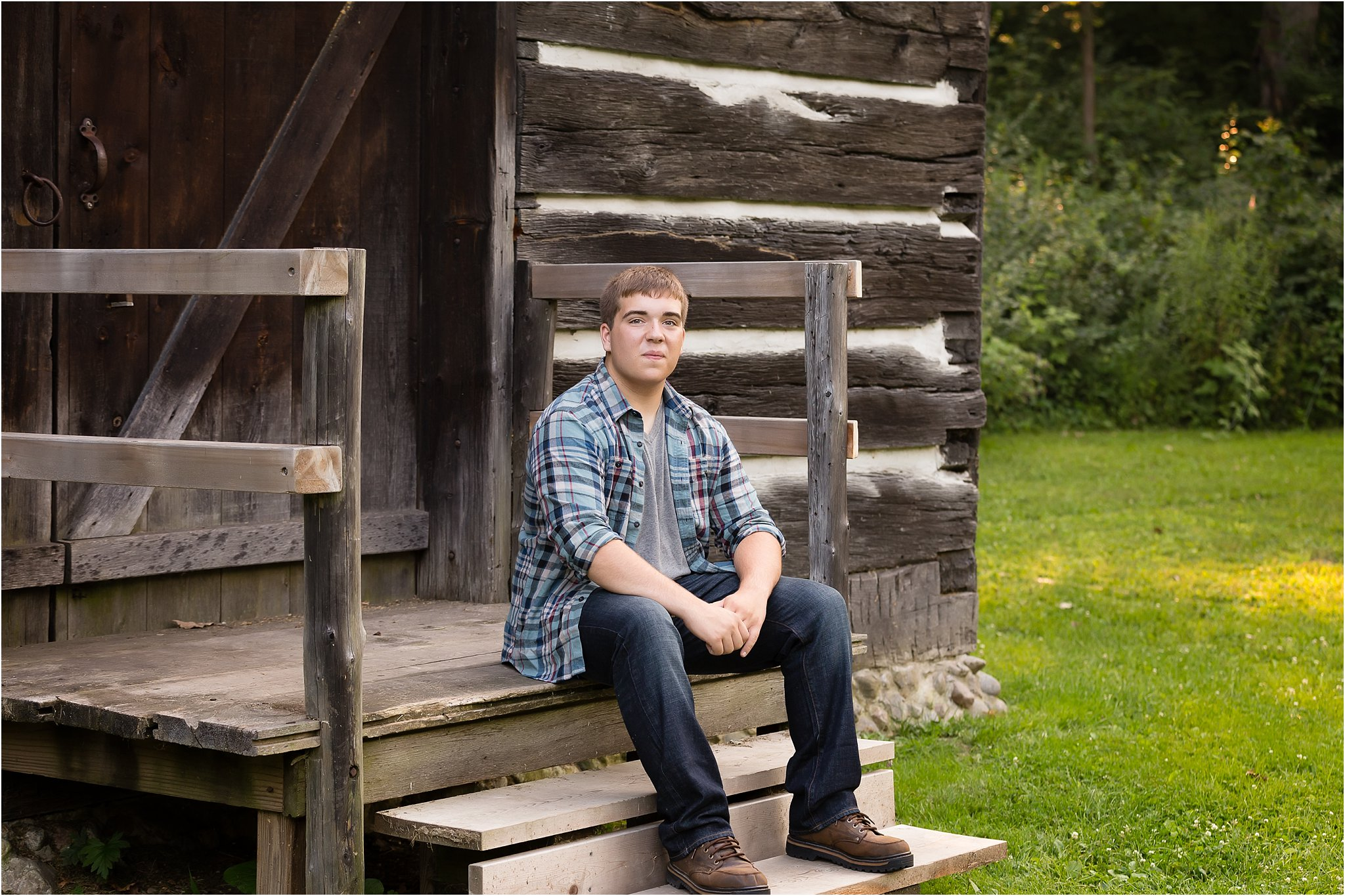 Senior boy outdoor photos   Saline High School
