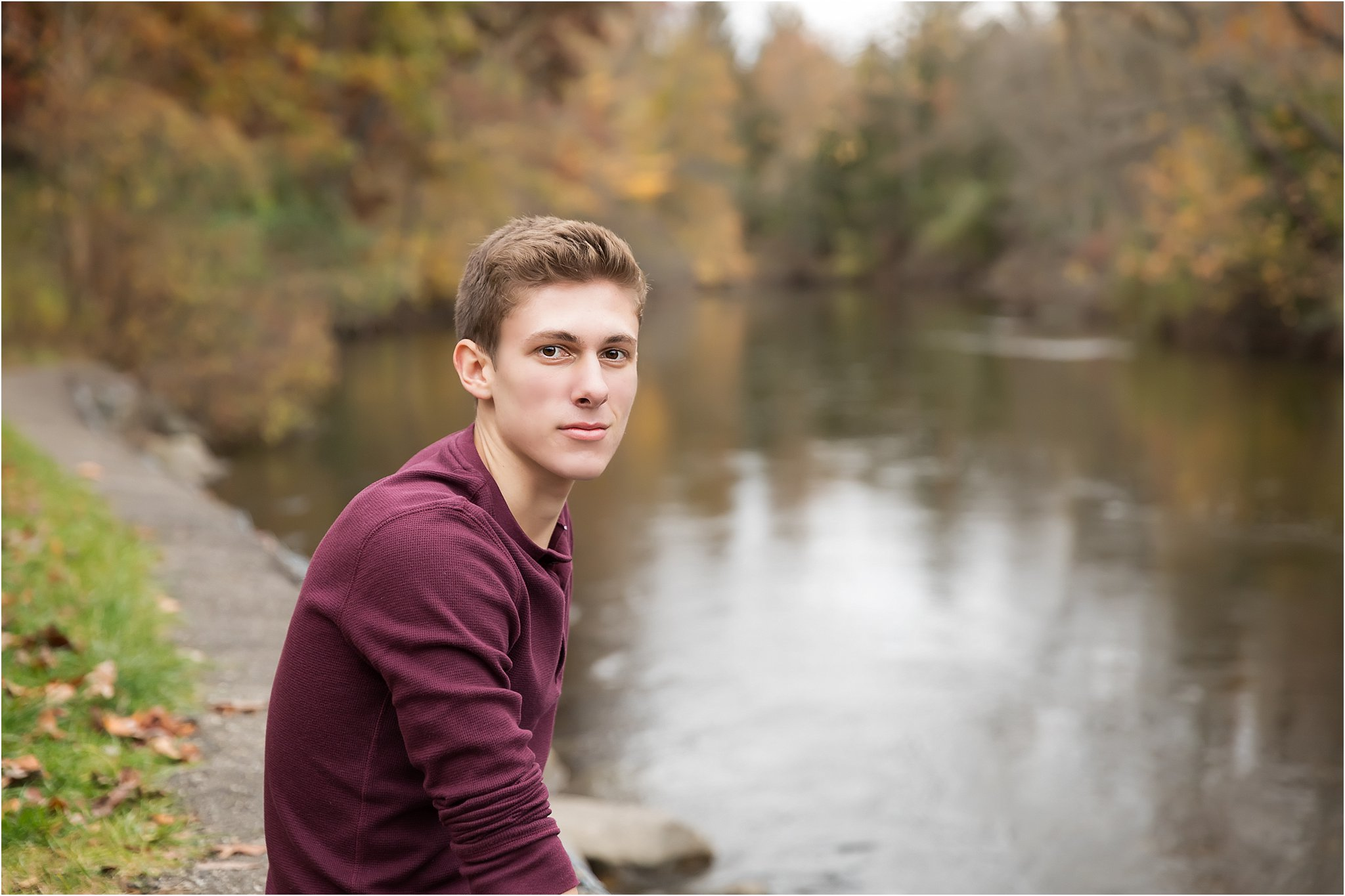 Senior Boy by the water | Saline High School