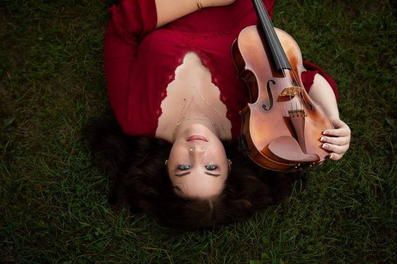 Senior Girl with viola | Saline High School