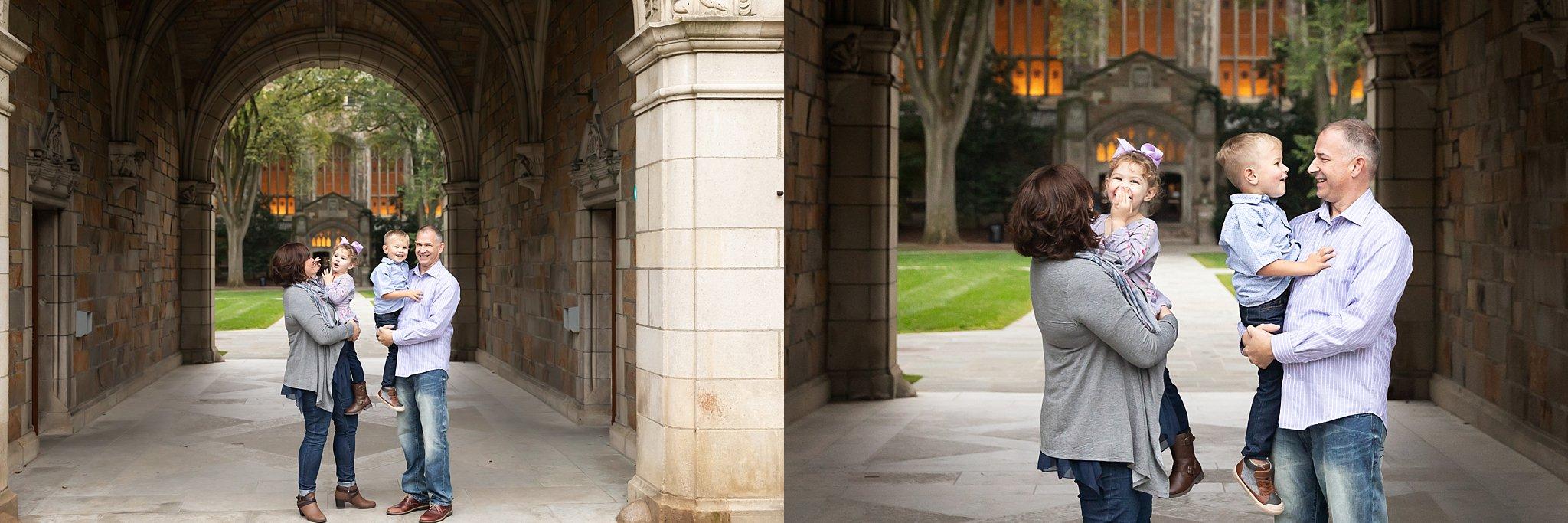 Family Photos at The Law Quad | Ann Arbor Photographer