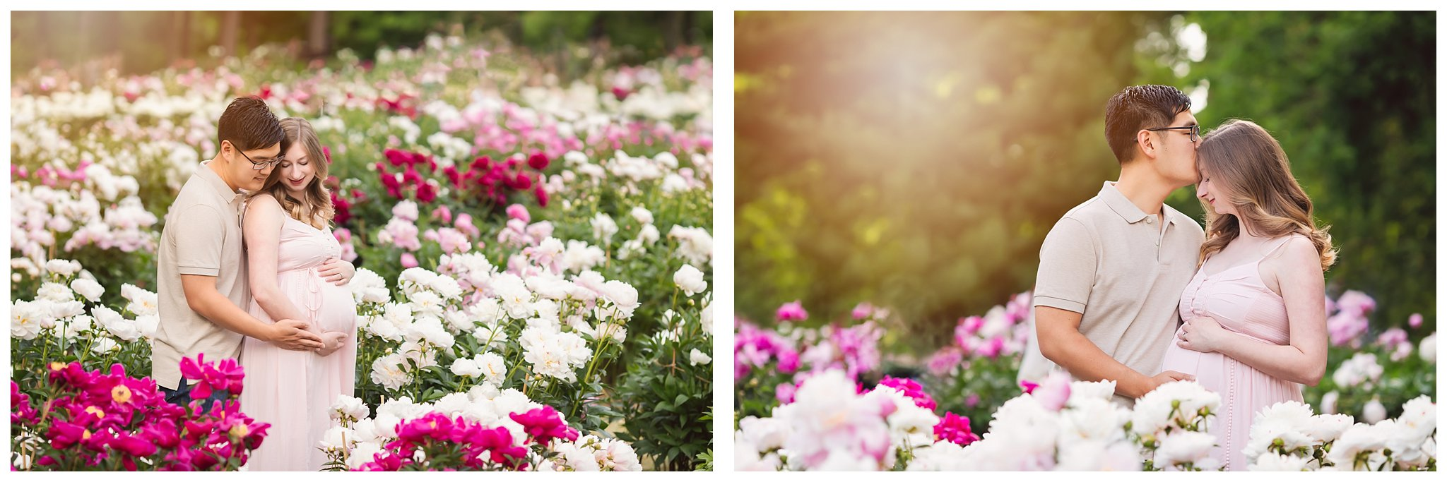 Maternity Session at the Peony Gardens | Ann Arbor Maternity Photos