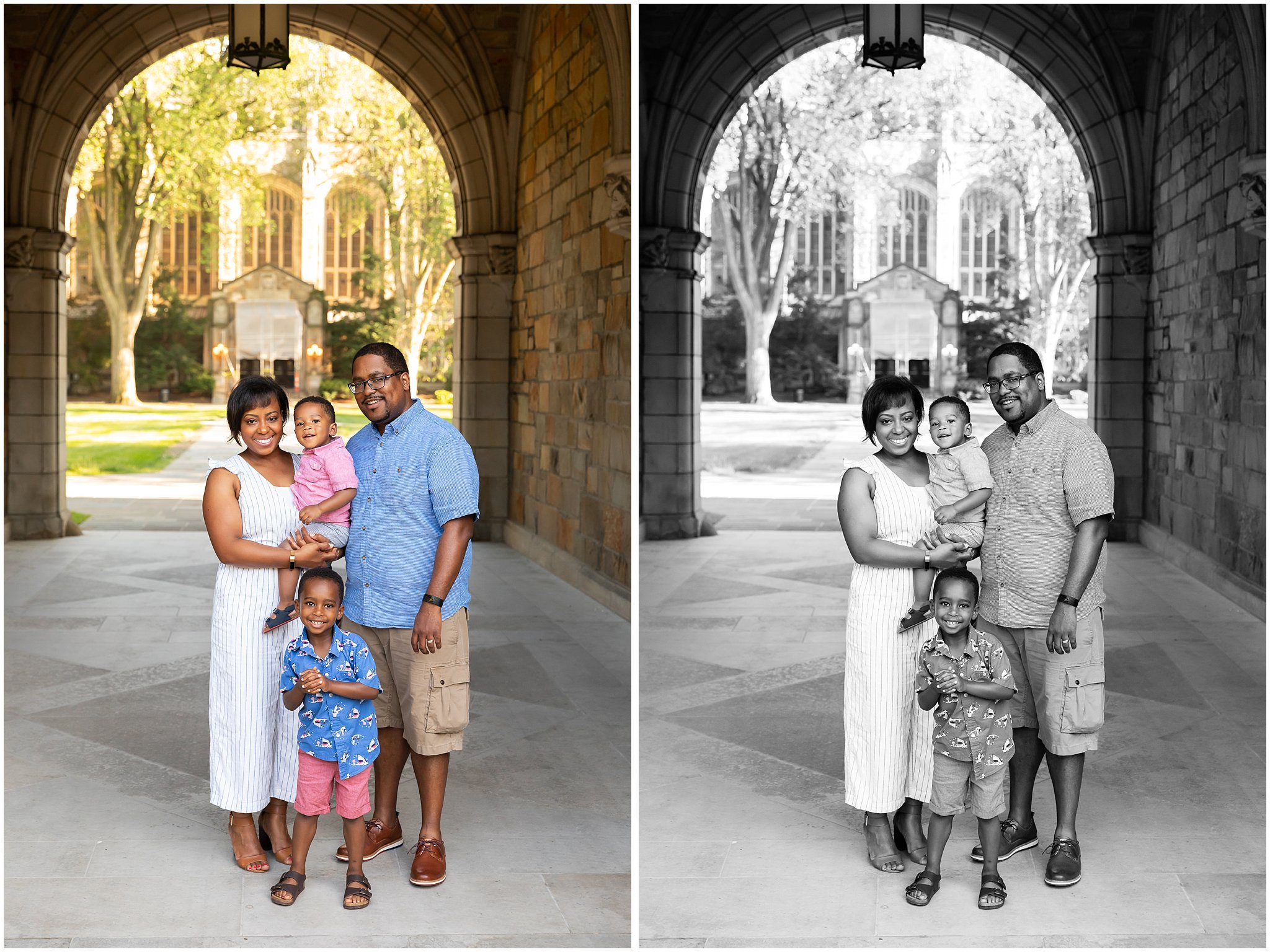 Spring Family Photos in the Law Quad | Ann Arbor Family Photographer