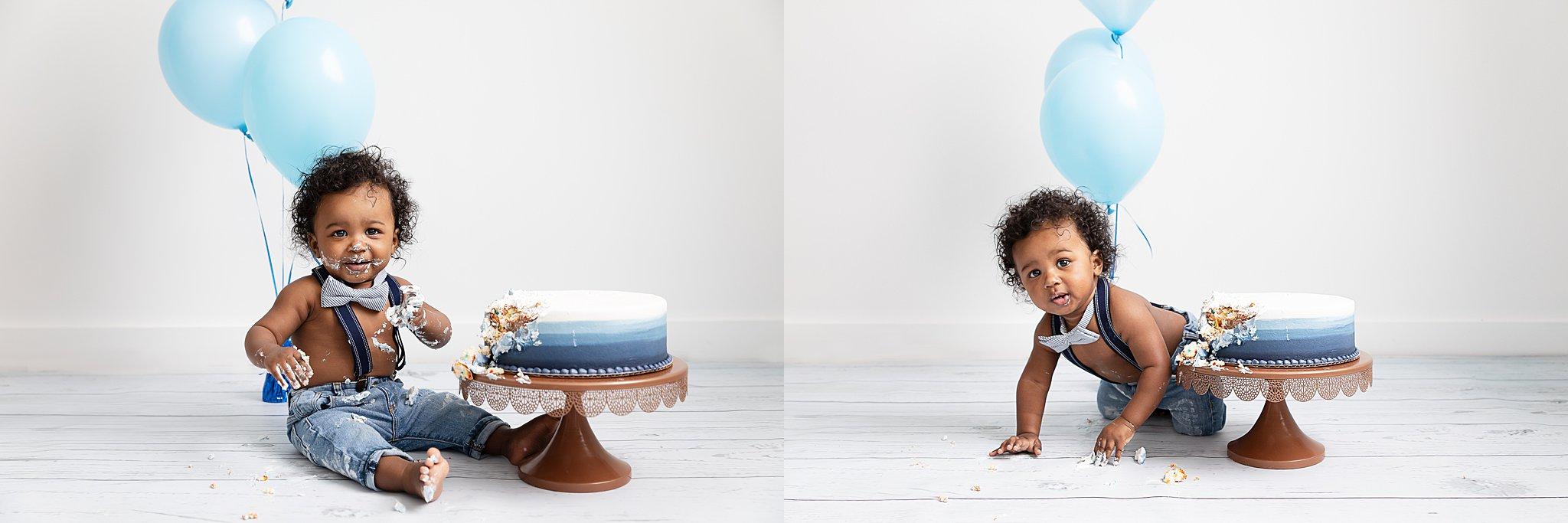 Ann Arbor Baby Photographer | One Year Old Cake Smash!