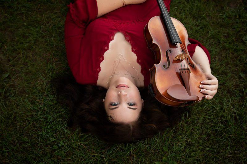 Senior Girl with viola | Saline High School